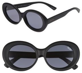 Quay Women's Mess Around 52Mm Oval Sunglasses - Black/ Smoke