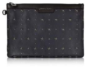 Jimmy Choo Men's Blue Leather Clutch.