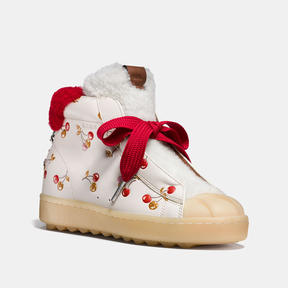 Coach High Top Hiker In Cherry Print