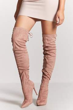 Forever 21 Crushed Velvet Over-the-Knee Boots