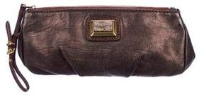 Marc by Marc Jacobs Metallic Leather Zip Pouch
