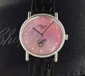 Chopard Classic Diamond Pink Dial Ladies Watch