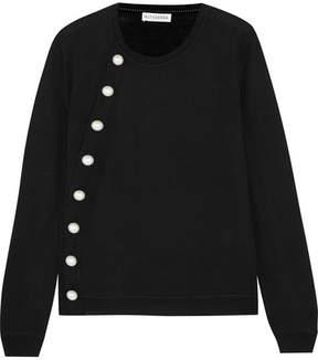 Altuzarra Minamoto Pearl-embellished Merino Wool Sweater - Black