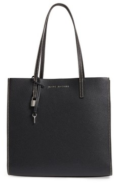 Marc Jacobs The Grind East/west Leather Shopper - Black - BLACK - STYLE