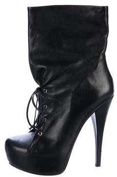Alejandro Ingelmo Leather Lace-Up Ankle Boots