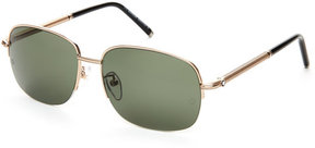 Montblanc MB523T Gold-Tone Square Sunglasses