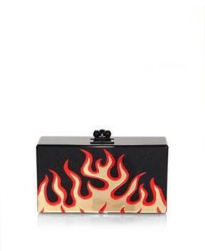 Edie Parker Jean Flames Printed Clutch