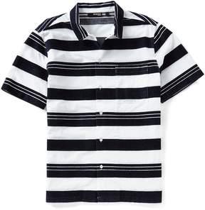 Murano Textured Stripe Short-Sleeve Woven Shirt
