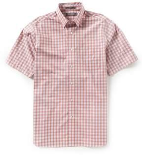 Daniel Cremieux Signature Heather Tartan Plaid Short-Sleeve Woven Shirt