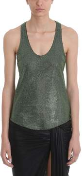 Alexandre Vauthier Green Crystallized Top