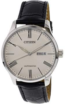 Citizen Men's NH8350-08A Silver Leather Automatic Fashion Watch