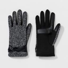 Isotoner Women's smarTouch® Flecked Fleece Glove w/ Twist Belt - Gray/Black
