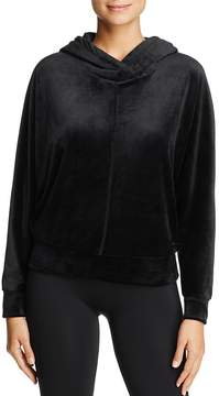 Andrew Marc Performance Hooded Velvet Sweatshirt