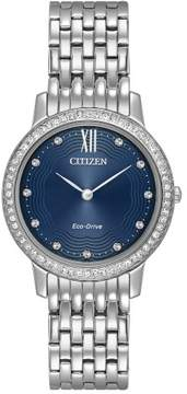 Citizen EX1480-58L Silver Stainless Steel Silhouette Womens Eco-Drive Watch