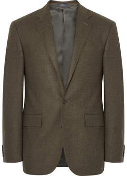 Polo Ralph Lauren Olive Polo 1 Slim-Fit Tick-Weave Wool Blazer
