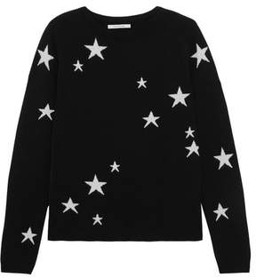 Chinti and Parker Star Cashmere Sweater - Black