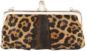 Christian Louboutin Pony-style calfskin clutch bag