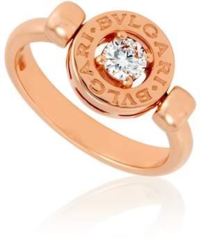 Bvlgari 18K Pink Gold Diamond Flip Ring Size 8.25