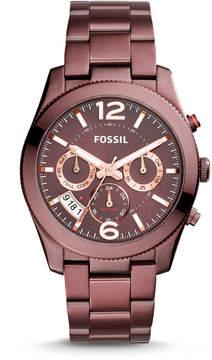 Fossil Perfect Boyfriend Multifunction Wine Stainless Steel Watch