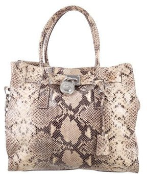 MICHAEL Michael Kors Hamilton Embossed Bag - BROWN - STYLE