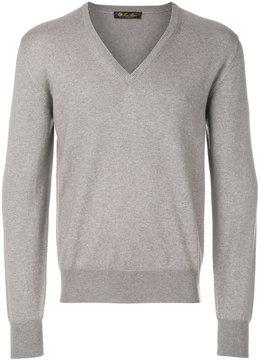 Loro Piana long sleeved V-neck sweater