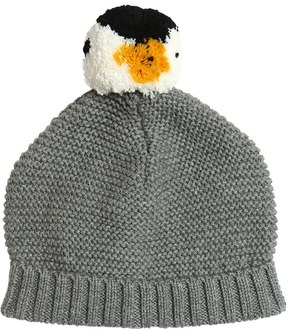 Stella McCartney Penguin Pompom Cotton & Wool Tricot Hat