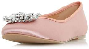 Head Over Heels *Head Over Heels by Dune Pink 'Hiya' Flat Shoes