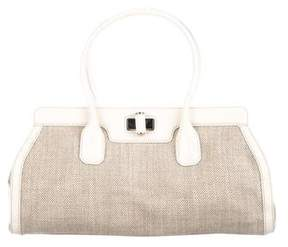 Tod's Patent Leather-Trimmed Handle Bag
