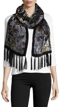 Collection 18 Embroidered Velvet Scarf