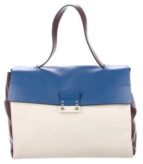 Valentino Leather Mime Satchel