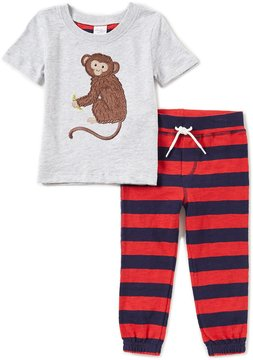 Starting Out Baby Boys 12-24 Months Short-Sleeve Monkey Top & Pants Set