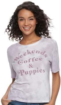 Fifth Sun Juniors' Weekend, Coffee & Puppies Graphic Tee
