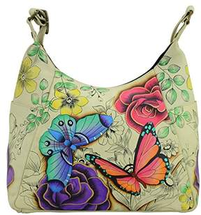 Anuschka Anna By Hand Painted Leather Women's Multi Pocket HOBO