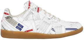 Maison Margiela All Over Print Techno Paper Sneakers