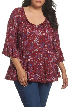 Evans Plus Size Women's Ruffle Gypsy Blouse