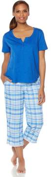 Karen Neuburger KN Cool by Summer Breeze Henley/Capri Pajama Set