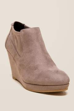 Laundry by Shelli Segal Cl By CL by Varina Wedge Ankle Boot - Taupe