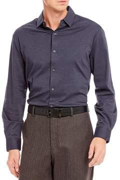 Hart Schaffner Marx Coatfront Long-Sleeve Knit Shirt