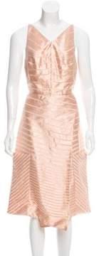 Christian Siriano Silk-Blend Sleeveless Dress