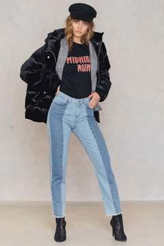 NA-KD Na Kd Raw Hem Panel Jeans