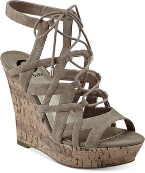 G by Guess Dritta Cork Wedge Sandals Women's Shoes
