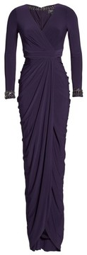Adrianna Papell Women's Beaded Jersey Gown