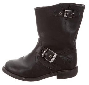 Frye Girls' Leather Buckle-Embellished Boots