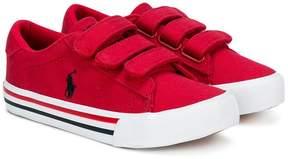 Ralph Lauren logo striped sole sneakers