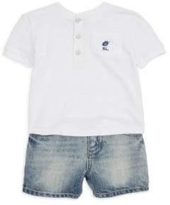 Ralph Lauren Boy's Henley and Shorts Set