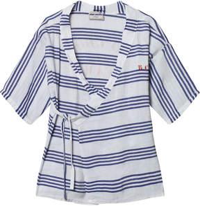 Bobo Choses Blue and White Stripe Team B.C Kimono Shirt