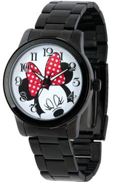 Disney Minnie Mouse Men's Casual Alloy Case Watch, Black Bracelet