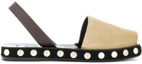 Loewe Nude Neutrals Studded Sole Slingback Sandals