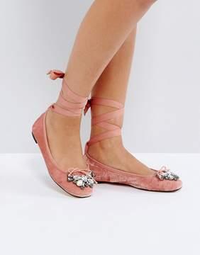 Office Velvet Ballet Shoes