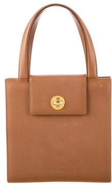 Bvlgari Pebbled Leather Satchel